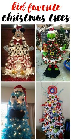 These are the best christmas tree ideas for kids to make! Love them!