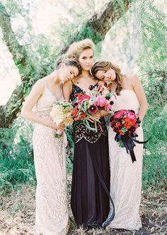 Have the bride in black and the bridesmaids in white.