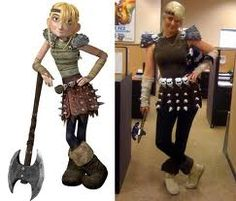 Astrid, how to train your dragon? could be a fun costume :) nicely done as well