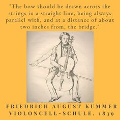 """Friedrich August Kummer, one of the top cellists and teachers of the nineteenth century, was also the author of the method book """"Violoncell-Schule"""" and many compositions for cello. Cello Quotes, Author, Memes, Books, Top, Livros, Libros, Book, Book Illustrations"""