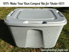to Make your own compost bin for under five dollars! How to Make your own compost bin for under five dollars! Garden Compost, Diy Compost Bin, How To Compost, Outdoor Compost Bin, Homemade Compost Bin, Composting Bins, Compost Tumbler, Garden Soil, Gardens