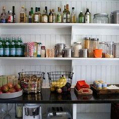 Pantry Ideas, Cottage, kitchen, Sage Design