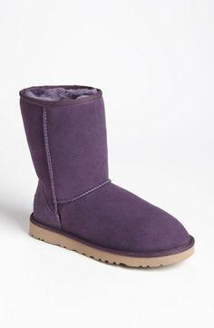 UGG® Australia 'Classic Short' Boot in Purple Velvet (Women) available at #Nordstrom