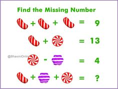 Fun WIth Maths: Find the Missing Number in The Picture Preschool Math, Fun Math, Math Games, Teaching Math, Math Activities, Math Math, Maths Puzzles, Math Worksheets, Math Problem Solving