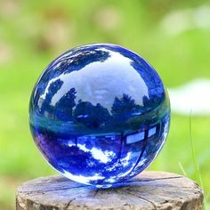 XINTOU Blue Crystal Sphere Ball Natural Feng shui Decorative Glass Marbles Balls Home Decoration Piece Child Globe Toys Craft Crystal Sphere, Crystal Ball, Crystal Healing, Quartz Crystal, Glass Crystal, Feng Shui, Marble Ball, Magic Props, Crystal Champagne
