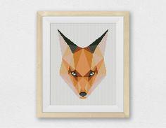 BOGO FREE! Wild Fox, Cross Stitch Pattern, Mountain Forest Woodland Animals Wall Home Modern Decor PDF Instant Download #025-11 by StitchLine on Etsy