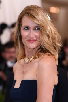 Laura Dern at the 2017 Met Gala. Hair by Nathan Rosencrantz using:  ALTERNA Haircare CAVIAR products! Click Here to see which --> https://www.instagram.com/p/BTkbFeHDBSP/?taken-by=alternahaircare