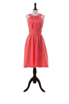 Halter Cocktail Dress with Pockets