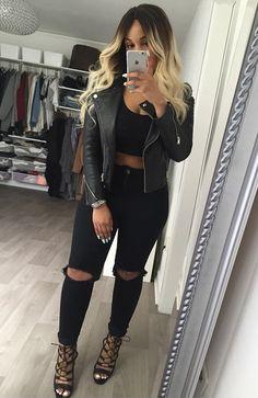 All black + Leather jacket @KortenStEiN