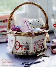 what a cute stitch basket!!