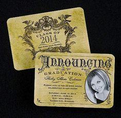 Vintage Announcement Photo Graduation Announcement