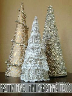 DIY Mini Christmas Tree Decor Ideas — Make these simple mini Christmas trees perfect to include every year with your Christmas decorations. Make these simple DIY mini Christmas trees perfect to include every year with your Christmas decorations. Cone Christmas Trees, Christmas Tree Crafts, Noel Christmas, Christmas Projects, Winter Christmas, Christmas Ornaments, Cone Trees, Simple Christmas, Christmas Pickle