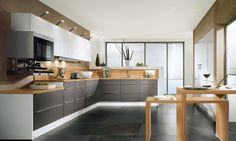 Idées de conception de cuisine en forme de L ~ Décor de Maison / Décoration Chambre
