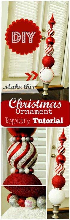 DIY Ornament Topiaries.