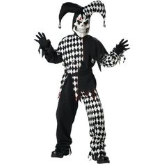 California Costume Collection Boys Evil Jester Child Costume  100 Polyester Exclusive of Trim  Medium *** Read more reviews of the product by visiting the link on the image.