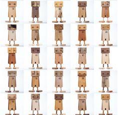 Scrap wood robots Daniel Moyer Design.