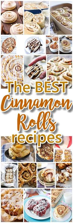 The BEST Cinnamon Rolls Recipes {The Perfect Treats for Breakfast, Brunch, Birthdays, Desserts, Special Occasions and Holidays} - dessert recipes Mini Desserts, Birthday Desserts, Cinnamon Desserts, Cake Birthday, Birthday Wishes, Brunch Recipes, Fall Recipes, Breakfast Recipes, Dessert Recipes