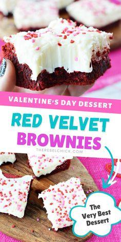 Make This Red Velvet Valentine Brownies Recipe for Valentine