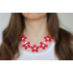 Náhrdelník Spring Pink Daisies   Womanology.sk Pink Daisy, Necklaces, Bracelets, Daisies, Chokers, Spring, How To Make, Accessories, Jewelry