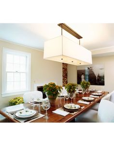 The modern dining room.    - HarpersBAZAAR.com