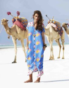 The Diani Beach camels making an appearance again for S/S '11(first time in S/S '09). This kaftan is another favourite, perfect beach evening lounge attire!