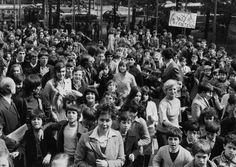 Manifestazione per le scuole al Palasport. Torino, 1976