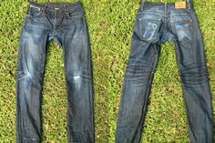 ade of the Day - Nudie Jeans Co Thin Finn Dry Heavy Selvage (1 Year, 0 Washes, 1 Soak) Read: http://rwrdn.im/fotd-nudie-thin-finn-dry-heavy