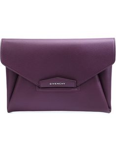 GIVENCHY Medium 'Antigona' Envelope Clutch. #givenchy #bags #leather #clutch #lining #hand bags #