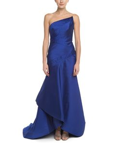 ML Monique Lhuillier Cobalt Embellished Strapless Gown is on Rue. Shop it now.