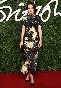 Michelle Dockery in Erdem   British Fashion Awards 2014