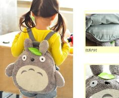 Aliexpress.com : Buy School Backpack ; [36*33CM] Fits 4 10Year Kids Kawaii Green Leaf TOTORO Plush Children Baby Kindergarten Backpack Shoulder Pack from Reliable backpack box suppliers on Shanghai Victoria Trading Co., Ltd