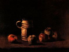 Still Life with Beer Mug and Fruit. 1881. Oil on canvas.