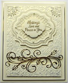 Creative Expressions Christmas 2017 Craft Die CED3126 Noelle Frame | CED3106 Holly Swirl