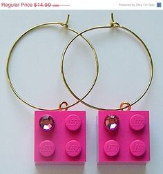 ON SALE Dark Pink LEGO R brick 2x2 with a Pink by MademoiselleAlma, $10.49