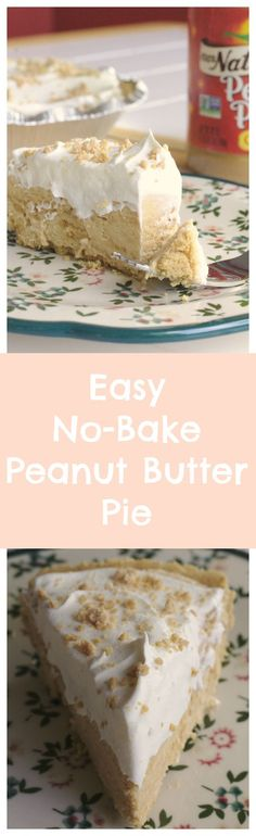 Easy No-Bake Peanut Butter Pie - a simple peanut butter pie made with only 5 ingredients! It's the perfect dessert for cook-outs and parties! #ServeUpSummer #sponsored @conagrabrands @walmart