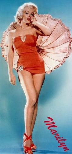 Custom Couture Marilyn Monroe Red Swimsuit with by DaintyRascal, $250.00