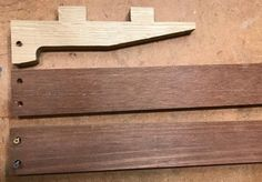 Contrasting pieces: the ends are oak and the slats are mahogany