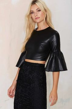 224696d79e136 Nasty Gal Party Town Bell Sleeve Top - Shirts + Blouses