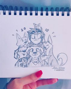 2018 - year of the doggos! Hopefully that means it's a good one  Happy New Year, everyone! ✨ • • • #angieocs #traditionalart #sketch