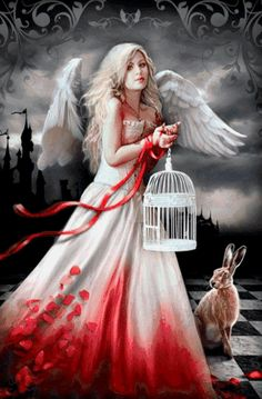 Angel of light. Beautiful Angels Pictures, Beautiful Fairies, Beautiful Gif, Angel Images, Angel Pictures, Gothic Fantasy Art, Dark Fantasy, Angels And Demons, Angels Among Us
