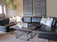 sectional, we prefer leather because, kids ;).