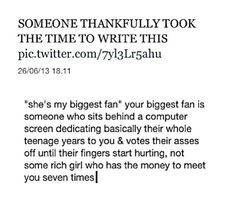 ^^^Sorry about the language but really tho.....>>> yes so true, your biggest fan will might never meet you<--this is definitely true. So true. The biggest fans are the ones sitting at home devoting our lives to you.