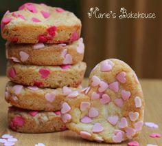 The Valentine's Collection for Marie's Bakehouse is now available for ordering. Chocolate chip heart shaped cookies, available in . Valentine Heart, Valentines Day, Heart Shaped Cookies, Sprinkle Cookies, Sprinkles, Facebook, Chocolate, Desserts, Recipes