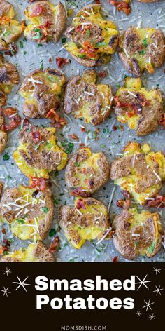Smashed Potatoes are crispy on the outside, fluffy on the inside and absolutely delicious! These baby potatoes are made by boiling, smashing and then broiling for that rustic texture. They only take 15 minutes of your time, but can easily feed a crowd.