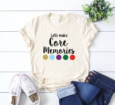 Let's Make Core Memories Tshirt, Inside Out shirt, Disney movie shirt, Disney World tshirt, Disney t Disney World Outfits, Disney Fashion, Travel Shirts, Vacation Shirts, Vacation Movie, Vacation Ideas, Disney Diy, Disney Trips, Walt Disney