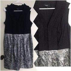 ALFANI dress Black and Silver sleeveless dress. V-neck. Excellent Condition. Trade/PP ✅Bundle. Make me an offer. Alfani Dresses