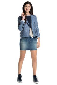 Esprit : Cazadora de piel en estilo motero en la Online-Shop