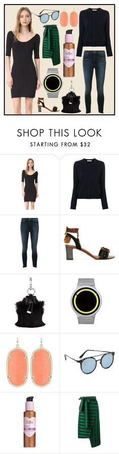 """""""Style of the Week"""" by cate-jennifer ❤ liked on Polyvore featuring Elizabeth and James, Mother, Dolce&Gabbana, Alexander Wang, ZIIIRO, Kendra Scott, Quay, Million Dollar Tan and Rochas"""