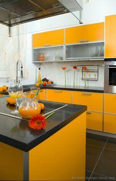 Best 75 Best Orange Kitchens Images In 2019 Modern Kitchens 400 x 300