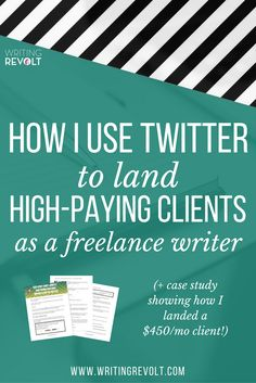Wanna learn how to find freelance writing clients on Twitter? This 2300-word post will show you how, and I'll give you a FREE case study on how I used Twitter to land a $450/mo client!